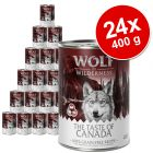 Lot Wolf of Wilderness The Taste Of 24 x 400 g pour chien